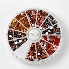<b>Wholesale</b> 6 <b>Color Faceted</b> Half Round Imitation Taiwan Acrylic ...