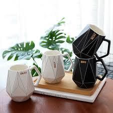 <b>Creative Polygonal Ceramic Mug</b> Office Coffee Cup Milk Cup ...