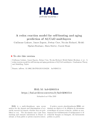 (PDF) A redox reaction <b>model</b> for <b>self</b>-<b>heating</b> and aging prediction ...