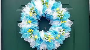 DOLLAR TREE EASTER WREATH - DECO MESH - <b>DIY</b> CRAFTS ...