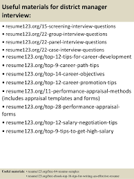 Top   district manager resume samples         Useful materials for district manager