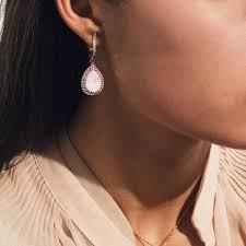 <b>Позолоченные серьги</b> с кристаллами <b>Swarovski</b>® Rose Water Opal
