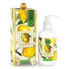 <b>Michel Design Works</b> Hand and Body Lotion 8-Ounce, <b>Lemon</b> Basil