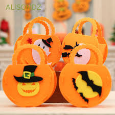ALISONDZ <b>Halloween Pumpkin Shape Portable</b> Non-woven Candy ...