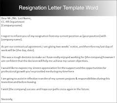 sample two weeks notice letter templates   creative designsresignation letter template word