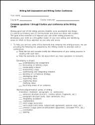 self assessment   for students   writing amp communication center  self assessment