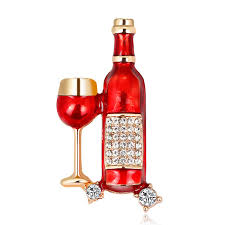 2019 Rinhoo Red <b>Wine Time Mini Cute</b> Wine Glasses Pin Red ...