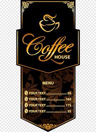 <b>Black</b> and brown Coffee House menu, <b>Coffee Cafe</b> Menu Restaurant ...