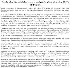 170916 09 jpg note at the organisation of pharmaceutical producers of s oppi annual hr summit on s force management earlier today the role of diversity