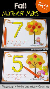 best ideas about writing numbers learning fall number mats these super cute printables are perfect for preschool prek