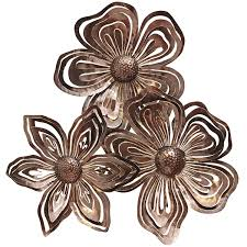 metal wall decor shop hobby: flower collage metal wall decor pier  imports