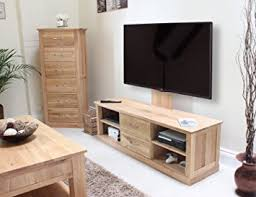 baumhaus mobel oak mounted widescreen television cabinet baumhaus mobel oak medium