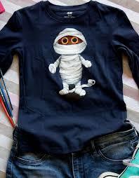 Hand Painted <b>Halloween</b> T Shirt, <b>Mummy</b> T-shirt, <b>Funny Halloween</b> ...