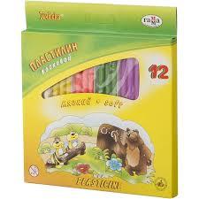 <b>Пластилин Гамма Пчелка</b> 12цв <b>восковой</b> 147гр со стеком,к/к
