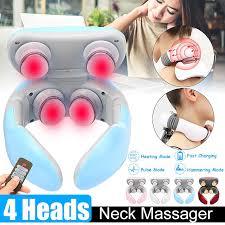 <b>Smart</b> Electric <b>Neck Shoulder</b> Massager 4D Infrared Heating Auto ...
