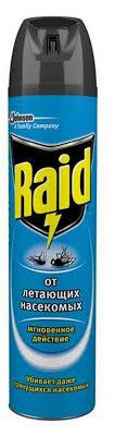 Купить <b>Аэрозоль</b> от летающих <b>насекомых Raid</b>, 300 мл с ...