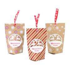 <b>48pcs</b> New Christmas candy <b>box retro</b> kraft paper bag Christmas ...
