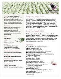 western food safety summit salinas valley agriculture anr western food safety summit flier page 1