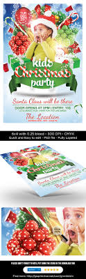 kids christmas party flyer templates on behance