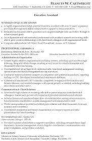 resume executive assistant sample resume executive
