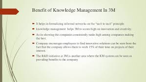 More than Post Its and Scotch Tape   M Innovation in Action   Gold     Integrates with Service Management processes across organization Governance mechanism for the knowledge generated and stored in
