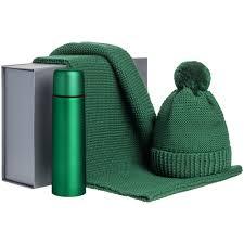 <b>Набор Warmer Brothers</b>, <b>зеленый</b> с нанесением логотипа в СПб ...