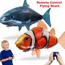 <b>Remote</b> Control Shark Toys Air Swimming <b>Fish Infrared</b> RC <b>Flying</b> ...