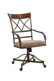 casual dining chairs with casters: free ground shipping powell hamilton swivel tilt dining chair on casters set of
