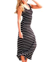 ZANZEA <b>Women</b> Cotton Stripe Muscle Racer Back Jersey ...
