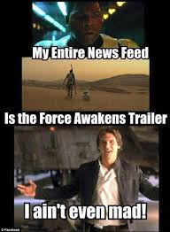 Star Wars: The Force Awakens trailer sends social media into ... via Relatably.com