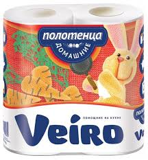 <b>Полотенца бумажные Veiro Домашние</b> белые двухслойные ...