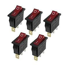 Buy HuaHuiYuan <b>AC 16A</b>/<b>250V 20A</b>/<b>125V</b> 3 Pin 2 Position <b>Red</b> ...