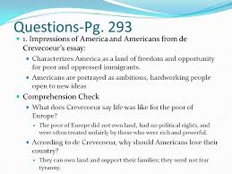 essay what is an american by michel guillaume jean de  impressions of america and americans from de crevecoeurs essay