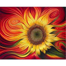 Online Shop <b>Frameless</b> Sunflower <b>DIY Digital Oil</b> Painting Paint By ...