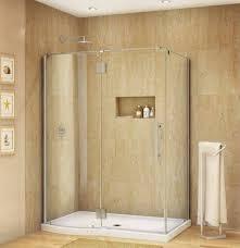 bathroom tempered glass shelf: bathroom ideal corner shower stalls for small bathrooms frameless corner shower stalls for small