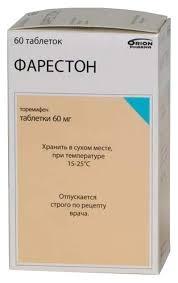 Купить <b>фарестон таблетки 60 мг</b> 60 шт., цены в Москве на goods.ru