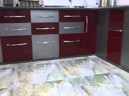 modular kitchen colors: l shape semi modular kitchen in double acralic ply colour ritesh boghani  baroda