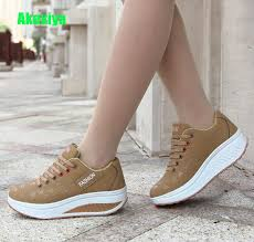 <b>Hot Women</b> Sneakers <b>2019</b> Breathable Waterproof Wedges ...