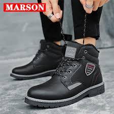<b>MARSON Men's Winter</b> Snow Boots Men Shoes Keep Warm Fur ...