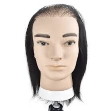 Hot Sale <b>Male</b> 20cm Mannequin Head <b>100</b>% Real <b>Human Hair</b> ...