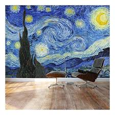 Large Wall Mural Famous Oil Painting <b>Reproduction</b> of Starry Night ...