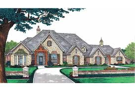 Eplans French Country House Plan   Luxury Living on a Single Level    Front
