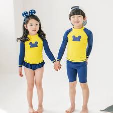 Kids Swimsuit <b>Two Piece</b> Boys Bathing <b>Suits</b> Girls Dress Bodysuit ...