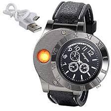 JewelryWe Mens Novelty Cigarette Lighter <b>Watch</b> USB <b>Charging</b> ...