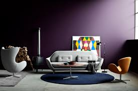 modern scandinavian living room furniture with arne jacobsen white egg chair and brown swan chair arne jacobsen furniture