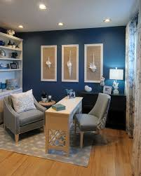 blue minimalist home office blue home office
