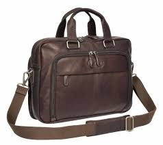 <b>Mens</b> Genuine <b>Leather</b> Brown <b>Briefcase Office Laptop</b> Case <b>Satchel</b> ...