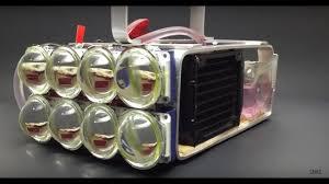 Water Cooled 72,000 Lumen <b>LED Flashlight</b>!! - YouTube