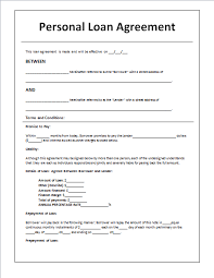 business loan agreement contract sample business agreement sample letter