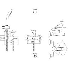 <b>Смеситель для ванны Bravat</b> Eco F6111147C-B в Санкт ...